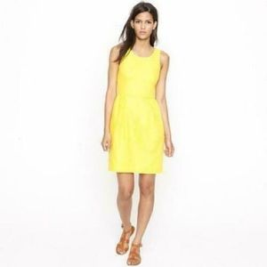 J.CREW Basket Weave Sheath Dress Yellow Waffle